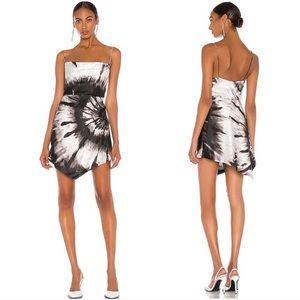 Retrofete Auris Silk Tie Dye Mini Dress Sz M